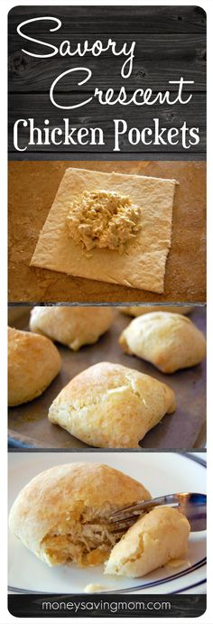 Savory Crescent Chicken Pockets note from crystal: I can testify that these are amazing! In fact, these were one of my favorite meals growing up. I Love Food, Good Food, Yummy Food, Food Trucks, Crescent Chicken, Chicken Pockets, Great Recipes, Favorite Recipes, Crescent Roll Recipes