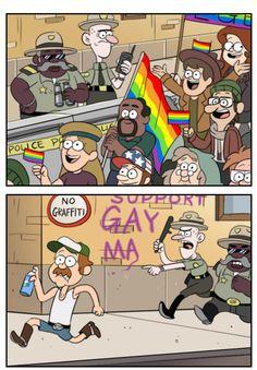 Thank you blanchin' MoringMark bot Gravity Falls Fan Art, Gravity Falls Comics, Cute Comics, Funny Comics, Eddsworld Comics, Dipper E Mabel, Grabity Falls, Fall Memes, Little Poni