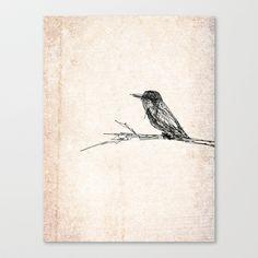 Let it bird Canvas Print by Escrevendo e Semeando - $85.00