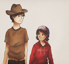 //Carl and ClemI don't know why I drew them but I did