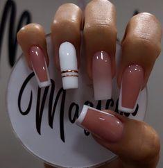 Acrylic Nails Coffin Pink, Acrylic Nail Tips, Cute Acrylic Nail Designs, Chic Nails, Stylish Nails, Trendy Nails, Witch Nails, Gucci Nails, Really Cute Nails