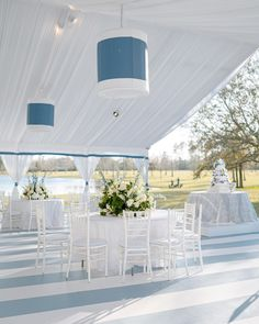 Currently crushing on this Hamptons inspired beauty. Isn't it serene?? Our clients will experience their image reveal tomorrow evening from the comfort of their home 💙 Wedding Inspiration, Wedding Ideas, Luxury Wedding, The Hamptons, Wild Flowers, Table Decorations, Photography, Inspired, Image
