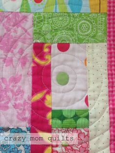 A spiral (and oval) quilting tutorial from Crazy Mom Quilts.   (She's one of my quilting heroes.)