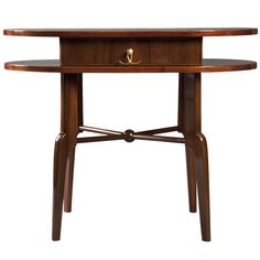 1stdibs - A Rare Walnut and Mother of Pearl Side Table Attributed to Oskar Wlach explore items from 1,700  global dealers at 1stdibs.com