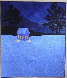 Great snow fabric & quilting. Wonderful reflection of window light.
