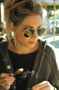 Ray Bans and Tea- a girl after my own heart!    Emily from cupcakesandcashmere.com