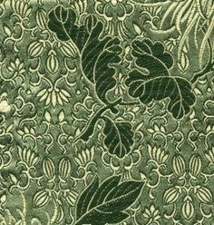 Sage Green Chrysanthemum Silk Brocade - store.corsetmaking.com