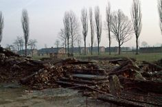 The ruins of the gas chamber and crematorium II at the Auschwitz II-Birkenau camp. Brick barracks of the BI sector are visible in the background. Horror, Never Again, World War Ii, Ww2, Poland, Repeat, Forget, Memories, History