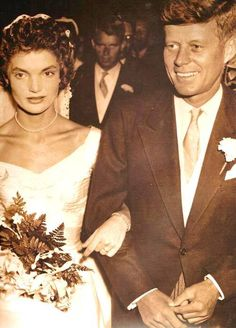 http://en.wikipedia.org/wiki/John_F._Kennedy  Jack And Jackie Wedding 12-9-1953.