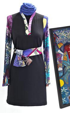 Vestido con detalles Vas hecha un cuadro by Maite Cobo. #vestido #cascoviejo #fashion