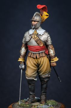 Spanish Tercio Officer, Battle of Conquistador, Renaissance, Thirty Years' War, Armor Clothing, Knights Templar, Toy Soldiers, Medieval Fantasy, 17th Century, Character Inspiration