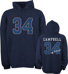704b366370b81 Earl Campbell Houston Oilers Navy Hall of Fame Name Number Hooded Sweatshirt  $60 Earl Campbell,