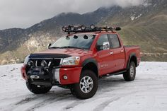 Roof rack hellp out - Nissan Titan Forum - Today Pin Nissan Titan Lifted, Nissan 4x4, Copper Roof, Metal Roof, Pitch, Truck Roof Rack, Painted Shed, Steel Roofing, Roofing Shingles