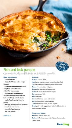 """""""Sustainable fish in a steaming-hot pie is the perfect bait to lure the family to the dinner table! #dailydish #picknpay #freshliving"""