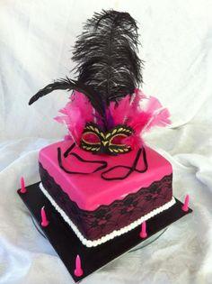 burlesque / carnival cake