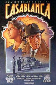 Casablanca Movie Poster: This isn't a movie about a train but has a very romantic train scene in it!