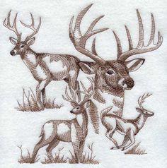 Deer Sketch design (G6945) from www.Emblibrary.com