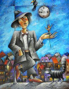 Romantic paintings by Russian artist Yuri Matsik