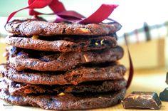 polzarciempolserio.pl  triple choc cookies Cookies, Meat, Blog, Crack Crackers, Biscuits, Blogging, Cookie Recipes, Cookie, Biscuit