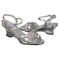 """Dyeables  Women's Cassie at Famous Footwear $67.99 1 3/4"""" wedge heel, wide width, in silver"""