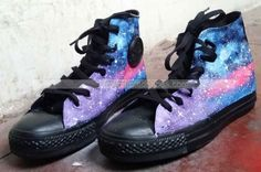 These are beautiful and I need them Galaxy Shoes, Galaxy Converse, Doc Martens Chelsea Boot, Chelsea Boots, Custom Sneakers, Custom Shoes, Grunge Outfits, Grunge Fashion, Converse Style