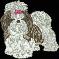 Pamela's Embroidery - Realistic Shih Tzu