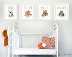 Parenthood, motherhood prints for baby nursery decor. Australian animal nursery art. Love, always, forever, together. LOVE Koala print. Aussie animals just got even better! Adorable and meaningful. What better way to declare your love for your child. This gorgeous Platypus typography print featuring mother or father and baby animals with meaningful words and sayings. You can even arrange them in any order of your choosing to say just the right message. ---------------------------------...