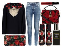 """""""street style"""" by sisaez ❤ liked on Polyvore featuring Dolce&Gabbana, Isaac Mizrahi, H&M, Robert Piguet and WAH"""