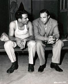 Montgomery Clift and Marlon Brando