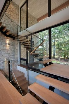 Modern Home in the Canadian Woods