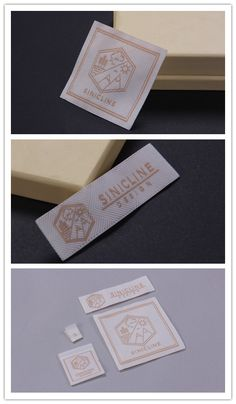 Sinicline new woven label designs, 2016 woven label collection. Shirt Label, Label Tag, Label Design, Logo Design, Design Tape, Name Labels, Fabric Labels, How To Make Clothes, Clothing Labels