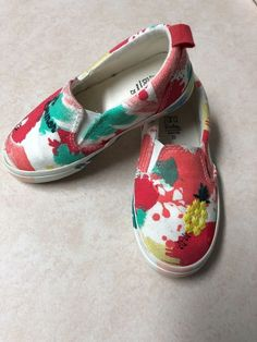 79b9491eb22b82 Baby Shoes · ZARA BABY TODDLER GIRLS WATER COLOR SLIP-ON CANVAS SNEAKER SIZE  6.5  fashion