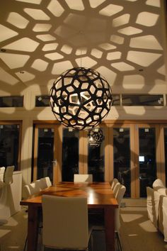 David Trubridge light - Coral. Comes in up to 1600mm width. For the entrace void
