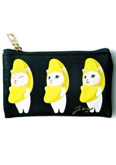Jetoy Midnight Banana Cat Card Case
