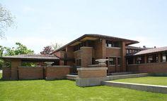 Органическая архитектура: Фрэнк Ллойд Райт (Frank Lloyd Wright): Darwin D. Martin House Complex, Buffalo, New York (Дом Дарвина Д. Мартина, Буффало, Нью-Йорк), 1904—1905; реконструкция 2007
