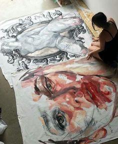 Art Sketches, Art Drawings, Photographie Portrait Inspiration, Artist Aesthetic, A Level Art, Art Hoe, Art Sketchbook, Gouache, Art Inspo