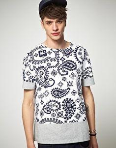 Christopher Shannon Kidda Paisley Print T-Shirt