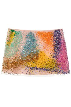 "ASHISH SEQUIN MINI SKIRT Nylon mesh mini skirt with sequins. Made in India. 100% Nylon Lining: 100% Polyester. SIZE & FIT Fits true to size. ASHISH Ashish Gupta likes sequins. Like, a lot. Since appearing on the London fashion scene in 2011, the designer has carved out his place as the ""King Of Sequins"" with his pieces handcrafted in India. Fashion Ideas, Latest Fashion Trends, Season 7, Sequin Skirt, Tapestry, Colors, Skirts, Style, Home Decor"