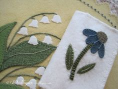 coneflower applique--Woolkeeper: March 2014