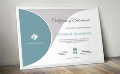 Curved certificate template (docx) by Inkpower on @creativemarket