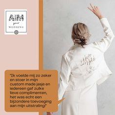 Unieke jasjes komen van de hand van AIM your WEDDING. Kwalitatief hoogstaand en eventueel met een eigen design of in overleg samengesteld. Na de trouwdag ook door te dragen, een ware evergreen. Met dank aan: Covers bridal Nadieh Hazes Let's create Productions Sandra Bierens