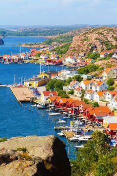 Fjallbacka, a colorful fishing Village along the west coast of Sweden; via @kevinandamanda