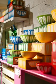 """Fjeldborg blog. The Iconic """"Lotus"""" pattern is resurrected, but now in ceramics, which are dishwasher safe. The pattern is designed by Norwegian Arne Clausen, early 60s, and we recognize it from Cathrine Holm large emaljeproduksjon and Grete Prytz Kittilsen enamel pots, bowls and jugs."""
