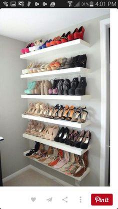 Shoe storage wardrobe & 41 Creative DIY Hacks To Improve Your Home   Pinterest   Spray paint ...