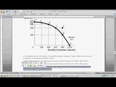 AS unit 1 - Production Possibility Frontier (PPF) - Intro to Microeconomics