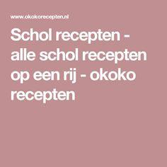 Schol recepten - alle schol recepten op een rij - okoko recepten