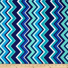 Michael Miller Chevy Chevron Marine from @fabricdotcom  Designed for Michael Miller Fabrics, this fabric is perfect for quilting, apparel and home décor accents.  Colors include navy, white, blue, aqua and teal.