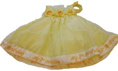 Tip Top My first Birthday embroidered yellow dress