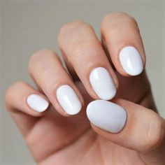 Essie 'Private Weekend' - the ultimate white nail varnish. White polish is perfect for a summer manicure. Pretty Nail Designs, Winter Nail Designs, Short Nail Designs, Toe Nail Designs, Lime Green Nails, Yellow Nails, White Nails, White Polish, Simple Acrylic Nails