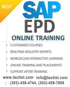 SAP EPD training online SAP Enterprise Portal Development by real time experts at Tectist. http://www.tectist.com/sap-epd-online-training.html #SAPEPD   #SAPEnterprisePortalDevelopement   #SAPEPDOnlineTraining